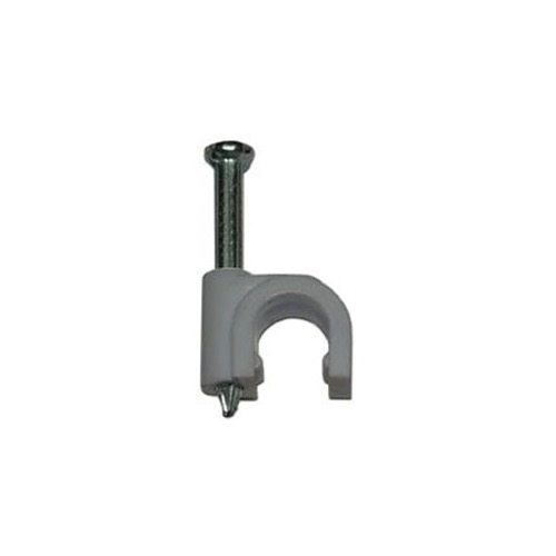 Eagle RG6 Coax Cable Clips 10PK Gray Coaxial Nail-In Strap Fastener ...