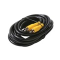 Steren 216-106BK Audio Cable Male RCA to M RCA 6' FT RG59 Shielded Aluminum Foil Copper Braid Impedance 75 Ohm Interconnect Cable Shielded RCA Male to RCA Male A/V Digital Signal Hook-Up Jumper with Yellow Plug Connectors, Part # 216106BK