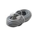 Steren 306-007SL 7' FT Telephone Line Cord Cable 6 Conductor Wire Silver Satin Flat Ultra Flexible Modular Line Plug Connectors Each End 6P6C RJ12 Phone Connect RJ-12 Communication Wire Extension Cable, Part # 306007-SL