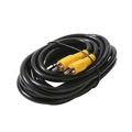 Steren 216-112BK 12' FT RCA Plug Male Connector Each End Composite Video Interconnect Cable RG59 Coaxial Cable Shielded RCA Male to RCA Male A/V Digital Signal Hook-Up Jumper with Yellow Plug Connectors, Part # 216112-BK
