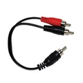 "Steren 255-020 RCA Y Adapter 6"" Inch Duplex Cable 1 Male to 2 Males Shielded Adapter Cable Splitter Audio Video Signal Separating Shielded Push-In Component Jack Plug Connector, Part # 255020"