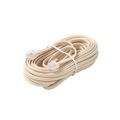 Steren 304-007IV 7' FT 4-Conductor Line Cord Cable Ivory Modular Telephone RJ11 Plugs Each End 6P4C Telephone RJ-11 Flat Phone Cord Cross-Wired for VoIP Cable Line Connector, Part # 304007-IV