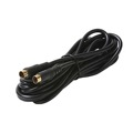 Eagle 3' FT S-Video Cable VHS Shielded 4 Pin Gold Male 24k Plated Plug SVHS Cable Male to Male Super VHS Multimedia Cable Video Signal Satellite Receiver Component Hook-Up Extension Connector