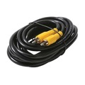 Eagle 6' FT RCA Cable RG59 Coaxial Male Each End Gold Video Shielded Male Cable Patch 75 Ohm Black with Yellow Push-On RCA Component Hook-Up Connector Jack Plugs