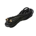 Eagle 100' FT S-Video Cable 4 Pin Mini Din Male Each End Gold Shielded Digital Video VHS Cable with Gold Plated Din Each Ends Shielded Digital Video Cable TV Connection Cord Premium Output Input Hook-Up Jacks