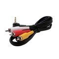 Eagle 3' FT 3.5mm Male 3 RCA Male Cable Camcorder Video Audio RYW Cord Cable Shielded Triple RCA Male Cable to 3.5 mm Male Plug Connector A/V Cable Camcorder Hook-Up Extension
