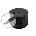 Eagle Microphone Line Cable 22 AWG Black 2 Conductor Copper Shield Ultra Flexible Microphone Cable Black Shield Low-Loss Ultra Flexible Rubber Jacket Pro Grade Copper Shield, Bulk Roll, Sold By The Foot