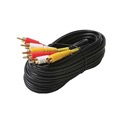 Steren 216-312BK 12' FT 3-RCA Cable Triple Red/Yellow/White Male to Male Dubbing Audio Video Composite Cable Gold Plate DIRECTV A/V Stereo Shielded Digital Signal DVD VCR Hook-Up Jumper with Plug Connectors, Part # 216312-BK