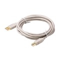 Steren 506-460 10' FT A-B USB Cable 2.0 USB A to B Male to Male Backwards Compatible with USB 1.1, Flexible PVC Jacket with 24K Gold Contacts, UL Listed, Part # 506460