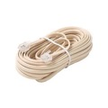 Steren 304-050IV 50' FT Phone Cord Ivory 4 Conductor Line with RJ11 Plugs Each End Modular Telephone Flat Cord Cable 6P4C Phone Cord Cross-Wired for VoIP Cable Line Connector