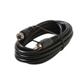 Steren 205-515 6' FT RCA to F Coaxial Cable F-Type Plug to RCA Male Connector Black RG59 22 AWG Solid Copper Center Conductor RG-59 Coaxial to RCA Patch Cable, Part # 205515