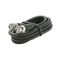 Steren 205-521 3' FT BNC Coaxial Cable Male to Male Black Plug RG59 Nickel Plate Connector Each End BNC Male to BNC Male RG-59 Factory Installed BNC Connectors, Part # 205521