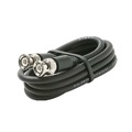 Eagle 6' FT BNC Coaxial Cable RG59 Black Male to Male Plug RG59 Nickel Plate Connector Each End BNC Male to BNC Male RG-59 Factory Installed BNC Connectors