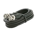 Eagle 25' FT BNC Coaxial Cable Male to Male Black Plug RG59 Nickel Plate Connector Each End BNC Male to BNC Male RG-59 Factory Installed BNC Connectors