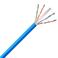 Eagle 200 FT CAT6 Ethernet Cable Network FastCat UTP CMR Blue 550 MHz Full 23 AWG Solid Copper Riser Certified 4 Twisted Pair UL Listed PVC Jacket Category 6 Computer Data Transfer Phone Signal Line, Bulk Roll
