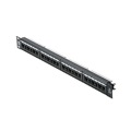 "Steren 310-334 24 Port CAT 6 Fast Media Patch Panel Commercial Grade Voice Data 19"" Inch Rack Mount RJ45 110-IDC Punch Down Panel UL 22-26 AWG Strain Relief System CAT6 Modular Termination Distribution Module RJ-45 Lan Hub, Part # 310334"