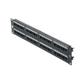 Eagle 48 Port CAT6 Patch Panel RJ45 110 Punch Down Commercial Grade UTP Rack Mount 19 Inch Ethernet 110 Termination Punch Down Panel 22-26 AWG Contact 110-IDC CAT6 Distribution Module RJ-45 Lan Hub