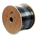 Eagle 1000 FT CAT5E Cable Outdoor Shielded STP / FTP Black 350 MHz Solid Copper Direct Burial Ethernet