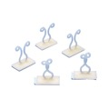Eagle Cable Clips Twist Type 5 Pack Fastener Adhesive Back Ivory Audio Video Coax Data Signal Speaker Wire Straps Holder Clip, Ivory