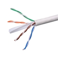Eagle CAT6 500' FT Bulk Cable Roll 550 MHz 23 AWG Solid Copper Unshielded White Network FastCat UTP CMR Ethernet Certified 4 Twisted Pair UL Listed PVC Jacket Category 6 Enhanced CPU Data Transfer Line