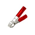 "Steren 258-661RD 3"" Inch Battery Clamp 30 Amp Connector Red Jaw Insulated Handles Alligator Clip, Insulated 30A Battery Jaw Clamp, Sold as Single Red, Part # 258661-RD"