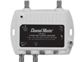 Channel Master 3412 Mini Distribution Multi-Media Drop Amplifier 2 Port CM3412 Signal Distribution Amplifier TV RF Output Booster Amp Multimedia 5-42 / 54-1002 MHz Passive Return, Part # PCT-MA2-M