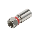 Steren 200-004-25 F-RG59 Perma Seal Compression Connector 25 Pack Coaxial Cable Weatherproof Design Nickel Plated Red Band Coax RG-59 PermaSeal F Connector, Part # 200004-25