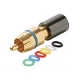 Steren 200-081-10 Mini RG59 RCA PermaSeal II Compression Coaxial Connector 10 Pack 360 Degree Connect High Performance Gold Plated Brass 6-Color Bands Audio Video Perma Seal II RG-59 A/V Connectors, Part # 200-081-10