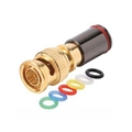 Steren 200-084-10 RG-59 BNC 10 Pack Compression Connector Gold Plated with 6 Color Bands Permaseal II Coaxial Cable Snap-On Line Plug Adapter, RF Digital Audio Video RG59 Component Connection, Part # 200084-10