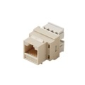 Steren 310-110IV CAT5E Keystone Jack Insert Ivory RJ45 8P8C Modular Coupler Cat 5 Connector Network Cat-5e RJ-45 QuickPort 8 Wire Twisted Pair Telephone Snap-In Insert Computer Data Telecom, Part # 310110-IV