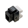 Eagle CAT5E Keystone Jack Black Insert 110 Type RJ45 90 Degree Entry Point IDC Contacts UL Listed 8P8C Modular Cat 5e Connector Network RJ-45 QuickPort 8 Wire Telephone Snap-In Insert Computer Data Telecom