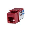Steren 310-110RD CAT5e Keystone Jack  Red Insert RJ45 Modular 110 Punch Down Multi-Media Datacom 8P8C Network Connector CAT-5e RJ-45 QuickPort 8 Wire Twisted Pair Snap-In Telecom Port, Part # 310110-RD
