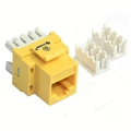 Steren 310-110YL CAT5e Keystone Jack Insert RJ45 Yellow 110 Type Modular Multi-Media Datacom 8P8C Network Connector CAT-5e RJ-45 QuickPort 8 Wire Twisted Pair Snap-In Telecom Port, Part # 310110-YL