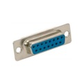 Eagle DB15 Female Solder Cup Connector D-Sub 15 Pin RS232 Female Solder Cup Connector Replacement or Repair VGA Connector D-Subminiature Connector