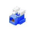 Steren 310-120BL CAT5e RJ45 Keystone Jack Insert Blue 110 Style  Modular Ethernet Connector Network 8P8C 8 Wire Twisted Pair QuickPort Telephone Wall Plate Snap-In Insert Data Telecom, Part # 310120-BL