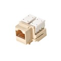 Eagle CAT5e Keystone Jack Insert Ivory 110 Type RJ45 Modular Ethernet Connector Network 8P8C 8 Wire Twisted Pair QuickPort Telephone Wall Plate Snap-In Insert Data Telecom