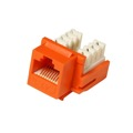 Eagle CAT5e Keystone Jack Insert Orange RJ45 Ethernet 90 Degree 110 IDC Orange Ethernet Connector 110-IDC Insert Modular RJ-45 CAT 5e Network 8P8C 8 Wire Twisted Pair