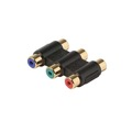 Eagle 3 RCA Coupler Composite Gold RWY Audio/Video Coupler RED, WHITE, YELLOW RCA In-Line Adapter Female to Female Barrel Jack Splice 1 Pack Audio Signal Cable Joint Extender Patch Connector