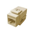 Steren 310-130IV CAT5E Keystone Jack Insert Ivory Toolless RJ45 One Piece 8P8C Modular Coupler Cat 5 Connector Network Cat-5e RJ-45 QuickPort 8 Wire Telephone Snap-In Insert Computer Datacom, Part # 310130-IV