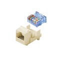 Steren 310-131AL CAT5E Keystone Jack Insert Almond Tooless RJ45 Connector CAT-5E Network 8P8C RJ-45 QuickPort 8 Wire Twisted Pair Modular Telephone Wall Plate Snap-In Insert Computer Data Telecom, Part # 310131-AL
