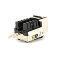 Eagle CAT6 RJ45 Shielded Keystone Jack Prevent EMI Conforms EIA / TIA T568A/B Standard Size 14.5 MM Wide 16.0 MM High
