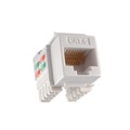 Steren 310-140WH CAT6 Keystone Jack White RJ45 110 Punch Down Fast Media RJ-45 Network Connector Jack 8P8C QuickPort 8 Pin Wire Twisted Pair Modular Wall Plate