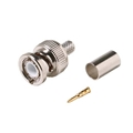 Eagle BNC Connector RG6 Coaxial Male 10 Pack 3 Piece Plug Commercial Grade RG6 RG-6 Coaxial Female Crimp Plug Connector Hex Crimp BNC Connector
