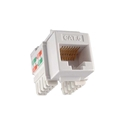 Eagle CAT6 Keystone Jack White 10 Pack RJ45 90% Degree Connector Fast Media RJ-45 Network Gold 50 Micron Insert 8P8C QuickPort RJ45 8 Pin Wire Twisted Pair Modular Wall Plate Snap-In Computer Telecom