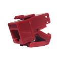 Steren 310-150RD CAT6 RJ45 Keystone Jack Connector Red Insert Tool-Less Fast Media One Piece 8P8C Modular Network QuickPort 8 Wire Telephone Snap-In Insert Computer Datacom, Part # 310150-RD