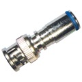 Forza 42277 BNC Compression Connector RG6 Coaxial Nickel Plate Permaseal, BLUE BAND
