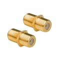 Eagle F Female Coupler 2 Pack Gold Joiner Barrel Connector Inline Splice Coax Connector 2 Pack Gold Magnavox M61025 Double Female In Line Audio Video Signal Component Plugs, Part # M-61025