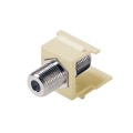 Steren F81 Keystone Insert Almond Barrel Jack 75 Ohm Snap-In F-81 Connector 310-415-AL QuickPort Coax Cable TV Video Signal Plug Wall Plate Module Component, Part # 310415-AL