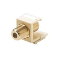 Eagle F Type Keystone Jack Insert Coupler Ivory Gold Female to Female Plate Connector Female to Female Single F-Type Barrel Connector F81 Jack 75 Ohm Snap-In QuickPort Coax