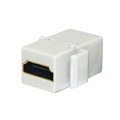 Eagle HDMI Keystone Coupler White Jack Insert Insert HDMI Type A Female to Type A Female 1080p Gold Plated HDMI Through Adapter Snap-In Plug QuickPort HD Plug Wall Plate Jack Adapter